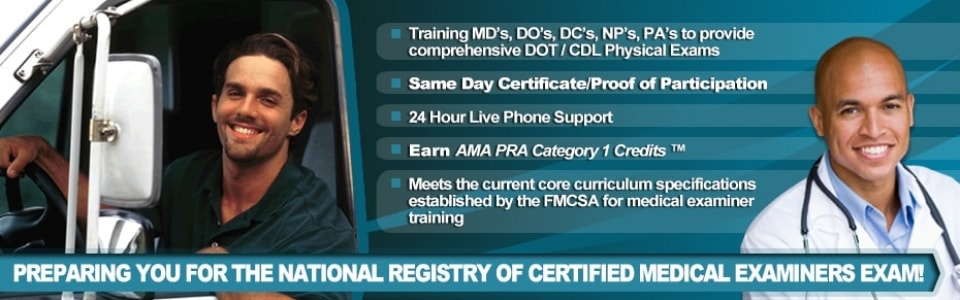National Registry of Certified Medical Examiners: Landing Page. Instructions to Become a Certified Medical Examiner. If you are interested in becoming a certified medical examiner, select the link above to learn about the requirements and process.